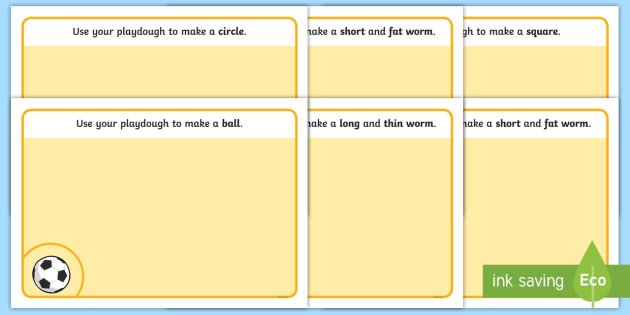 SEN Playdough Mats - SEN, playdough mat, mat, playdough, thin, think, long, short, circle, square, ball