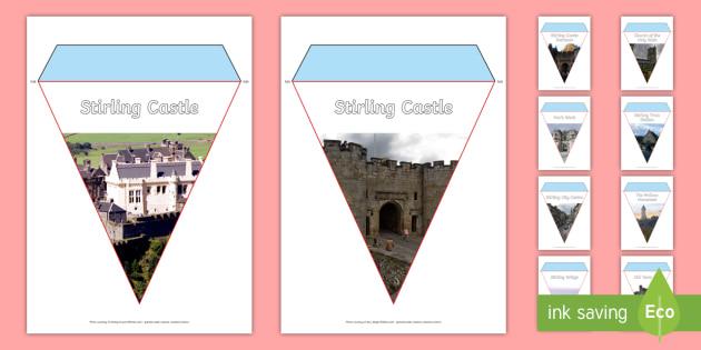 Stirling Photo Display Bunting-Scottish - Scottish Cities, Stirling, Scotland, Wallace Monument, Stirling Castle, Stirling Bridge, tourist att
