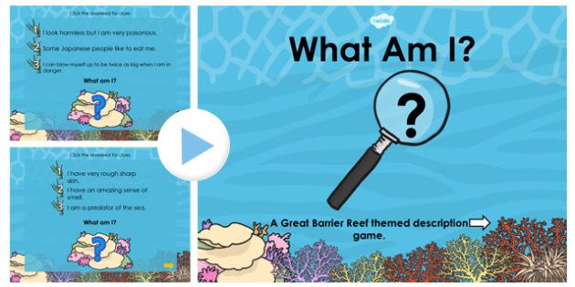 Great Barrier Reef What Am I PowerPoint - australia, barrier reef