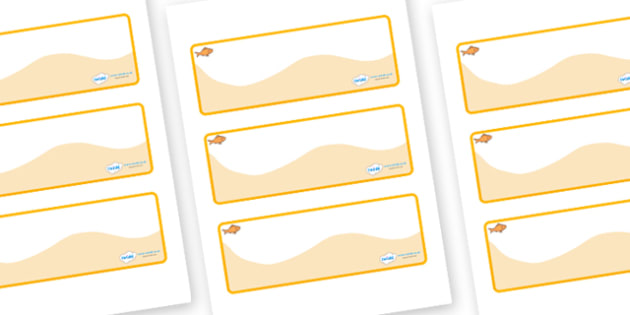 Goldfish Themed Editable Drawer-Peg-Name Labels (Colourful) - Themed Classroom Label Templates, Resource Labels, Name Labels, Editable Labels, Drawer Labels, Coat Peg Labels, Peg Label, KS1 Labels, Foundation Labels, Foundation Stage Labels, Teaching