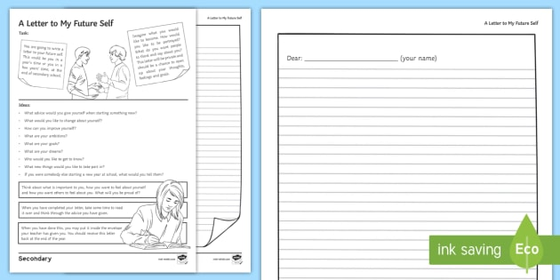 A Letter To My Future Self Worksheet Worksheet