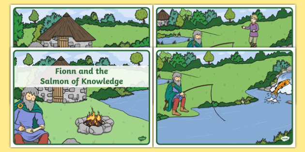Fionn and the Salmon of Knowledge Story Sequencing -  roi, republic, of ireland, myths, legends,