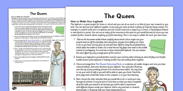 The Queen How to Make Your Lapbook - the queen, make, lapbook