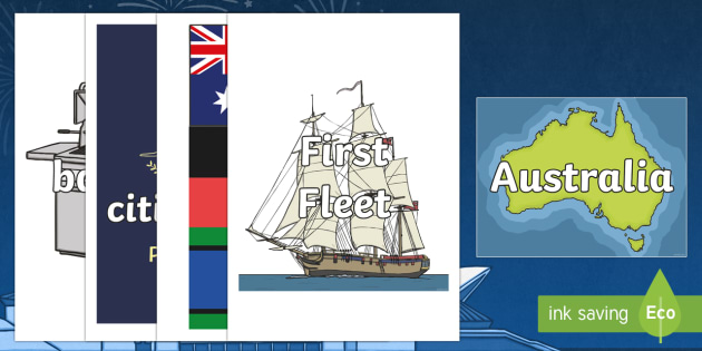 Australia Day Topic Words on Topic Images - australia, day, words