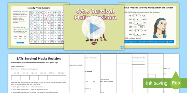 Year 6 Maths SATs Revision Books and Guide PowerPoint