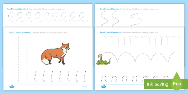 Woodland Creature Pencil Control Worksheets The Gruffalo