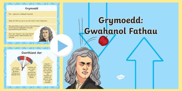 Grymoedd: Gwahanol Fathau PowerPoint-Welsh