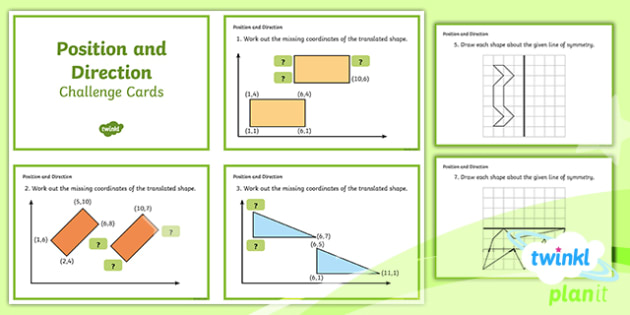 PlanIt Maths Y5 Position and Direction Challenge Cards