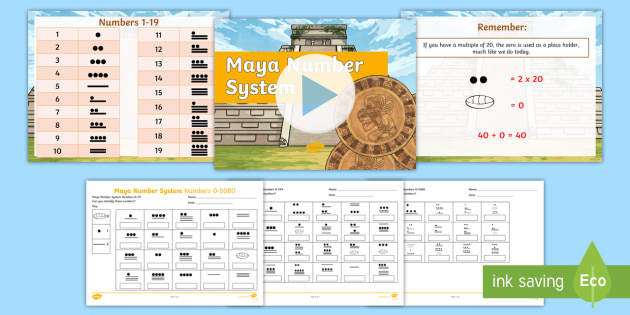 The Maya Civilization Number System Lesson Teaching Pack - maya