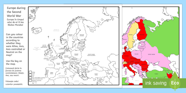 Second world war colouring map englishromanian second world second world war colouring map englishromanian second world war colouring map world gumiabroncs