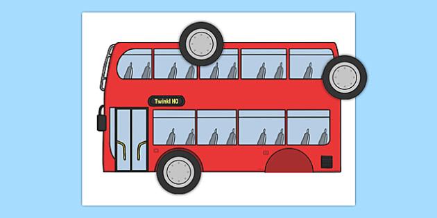 Pin the Wheels on the Bus Game - pin, wheels, bus, game, transport, sen