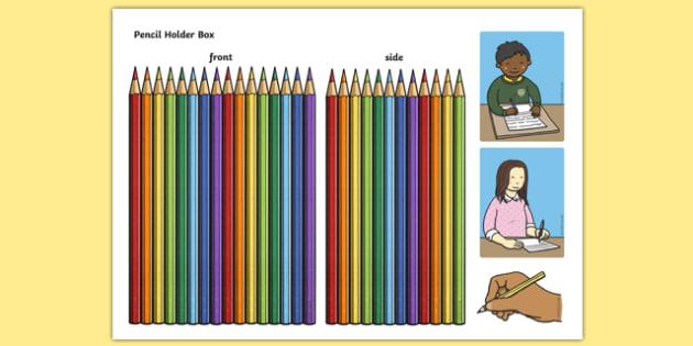 Pencil Holder Themed Mug Box Decals Pack - mug box, decals, themed, pack, pencil holder