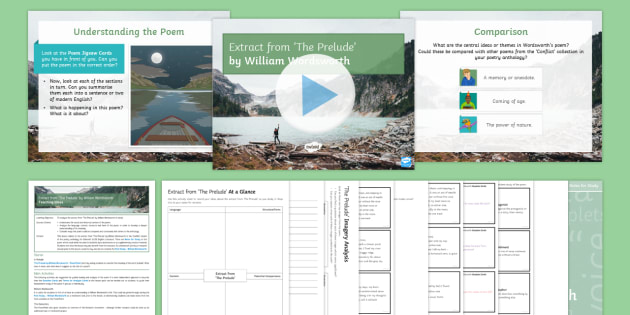 Gcse Edexcel Gcse Poetry Lesson To Support Teaching On The