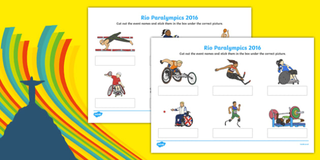 Rio Paralympics 2016 Events Matching SEN Activity Sheet Pack, worksheet