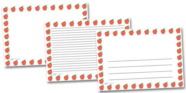 Smiley Apple Landscape Page Borders- Landscape Page Borders - Page border, border, writing template, writing aid, writing frame, a4 border, template, templates, landscape
