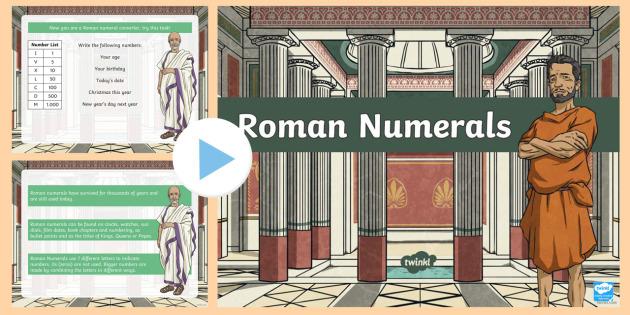 Roman Numerals Introduction PowerPoint - australia, numerals