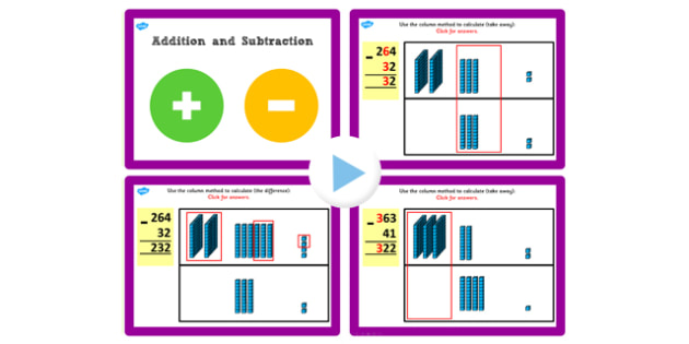 Y3 Add Subtract Lesson 4a 2 Digit Numbers 3 Digit No Exchanging