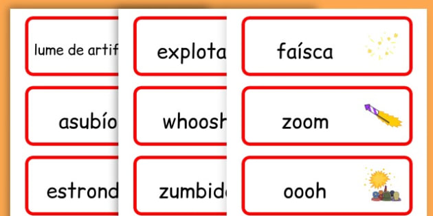 Chinese New Year Onomatopoeia Word Cards - australia, word cards - Galician