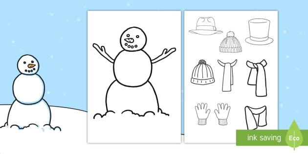 snowman clothes activity design your own winter clothes winter clothes. Black Bedroom Furniture Sets. Home Design Ideas