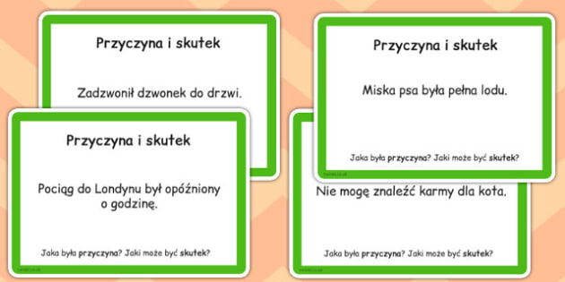 Guided Reading Skills-Task Cards Cause and Effect Polish - english, literacy, group work, infer, understand, listen, speak, challenge, activity,