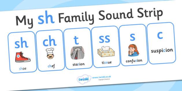 My sh Family Sound Strip - family sound strip, sound strip, my family sound strip, my sh sound strip, sh sound strip, sh family sound strip
