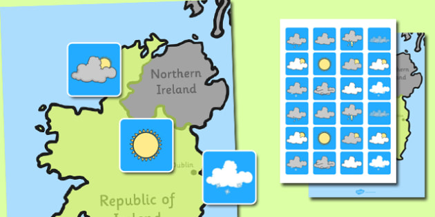 Ireland Weather Forecasting Role Play Pack - weather, role play, Ireland, Irish