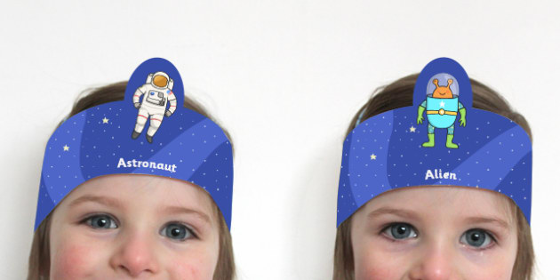 Astronaut and Alien Role Play Headbands - space, roleplay, props