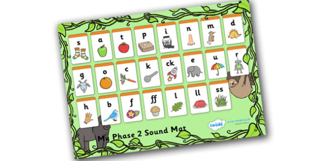 Jungle Themed Phase 2 Sound Mat - Phase 2, sound mat, phase 2 sound mat, jungle themed sound mat, phase 2 jungle themed, phase 2 jungle sound mat