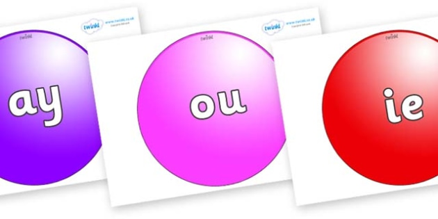 Phase 5 Phonemes on Spheres - Phonemes, phoneme, Phase 5, Phase five, Foundation, Literacy, Letters and Sounds, DfES, display
