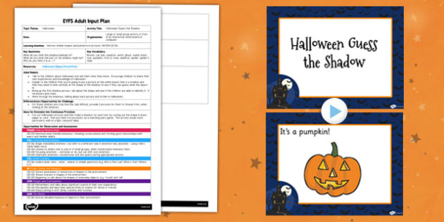 Halloween Guess the Shadow EYFS Adult Input Plan and Resource Pack