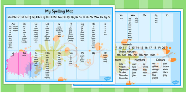 My Spelling Mat KS1 - spelling mat, ks1, spelling, mat, spell