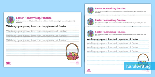 easter continuous cursive worksheet eyfs ks1. Black Bedroom Furniture Sets. Home Design Ideas
