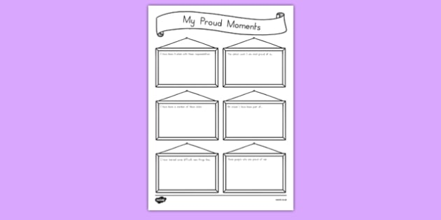 My Proud Moments Writing Template - usa, america, ourselves, writing aid