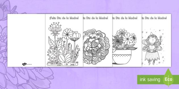 Manualidad: Tarjetas para colorear mindfulness para el Día de
