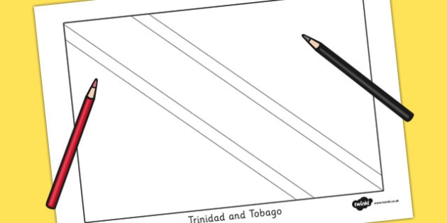 Trinidad and Tobago Flag Colouring Sheet - countries, geography