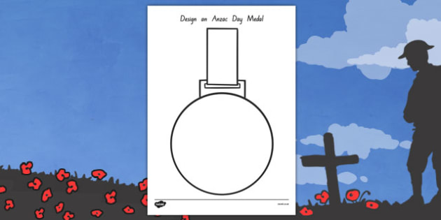 Anzac Day Design a Medal Activity - Anzac Day, medal, design, new zealand