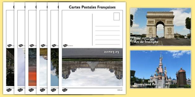 Cartes Postales Francaises - french, postcards, communication, travel, activity, france, landmarks