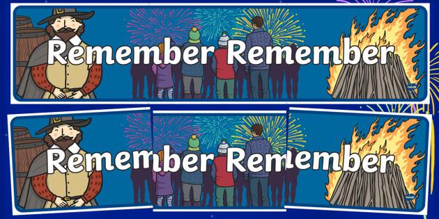 Remember Remember Themed Banner - bonfire night, header