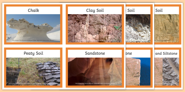 Rocks and soils matching cards rocks soils matching cards for T and t soils