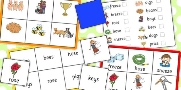 Final 'Z' Sound Bingo - final, z sound, bingo, game, SLT, SALT