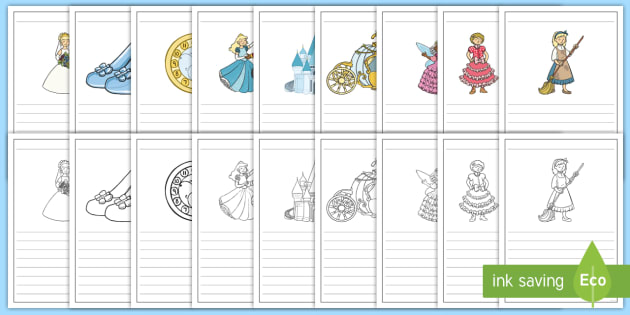Cinderella Writing Frames - writing frame, frame, writing