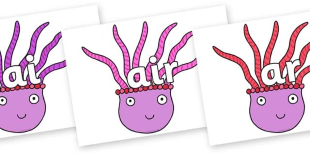 Phase 3 Phonemes on Anemone to Support Teaching on Sharing a Shell - Phonemes, phoneme, Phase 3, Phase three, Foundation, Literacy, Letters and Sounds, DfES, display