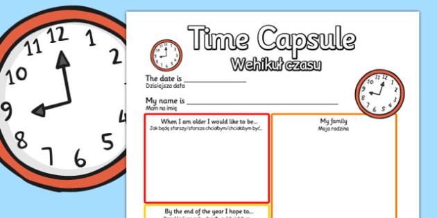 Time Capsule Transition Writing Frame Polish Translation - polish