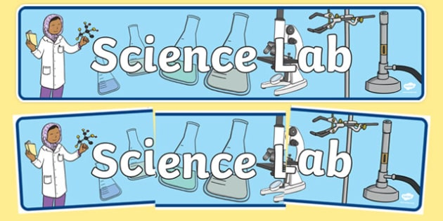 Science Lab Role Play Display Banner - laboratory, scientist, science, display, banner, sign, poster, professor, experiment, bottle, chemistry, chemicals