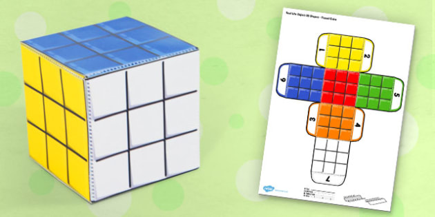 Real Life Object 3D Shapes Puzzle Cube - puzzles, shape, objects