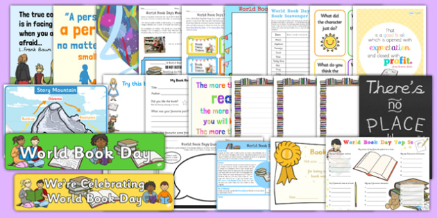 World Book Day Resource Pack - world book day, book day, books
