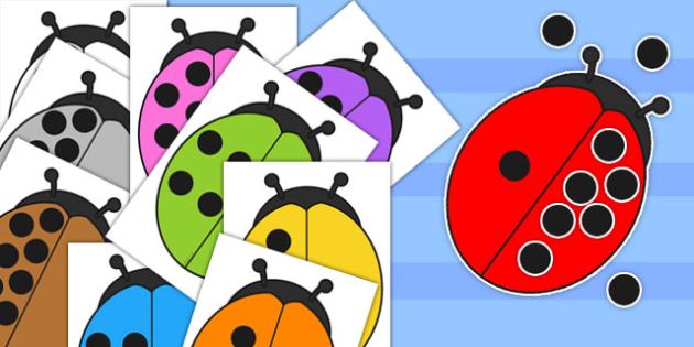 Give the Ladybugs 10 Spots Number Bond Activity - ladybug, bond
