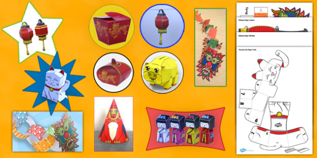 Chinese New Year Paper Model Resource Pack - chinese new year, craft, pack