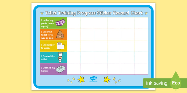 Toilet Training Progress Sticker Reward Charts