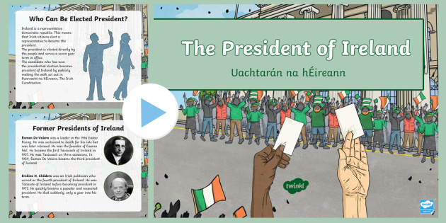 new president of ireland powerpoint ks2 5th class 6th